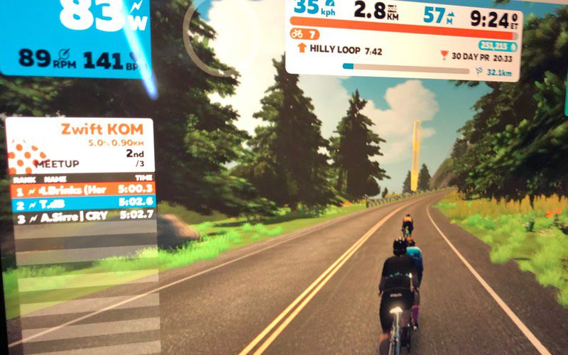 Zwift Three Sisters